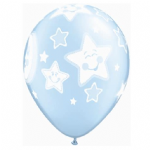 Baby Moon Balloons (Blue) - 11 Inch Balloons 6pcs